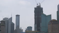 Panning shot of downtown Shanghai. Stock Footage