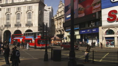 Piccadilly Circus in London England. Stock Footage