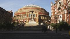 Far shot of Royal Albert Hall in London. Stock Footage