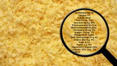 Shredded cheese nutrition facts - stock footage