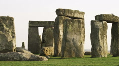 Pan of Stonehenge in England. Stock Footage