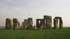 Birds flying through a clip of Stonehenge. Stock Footage