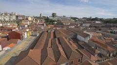 Vila Nova de Gaia with buildings in Porto district Stock Footage