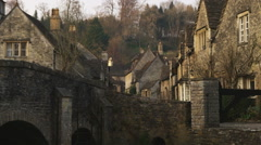 Shot of an old stone village in England. Stock Footage