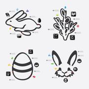 Easter infographic Stock Illustration