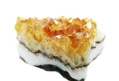 citrine geode geological crystals - stock photo