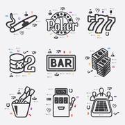 Casino infographic Stock Illustration