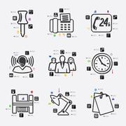 Stock Illustration of office infographic