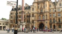 Building near Westminster Abbey in London England. Stock Footage