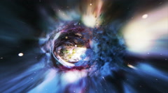 Wormhole Travel Stock Footage