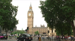 Big Ben clock tower in London England. Stock Footage
