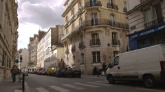 Paris France apartment complexes. Stock Footage