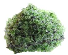 Peridote geode geological crystals Stock Photos