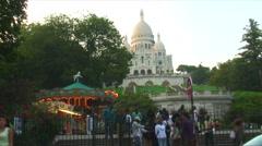 Merry-go-round in Paris. Stock Footage