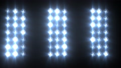 Flashing Blue Lights Concert Stage Sports Stadium Background - stock footage