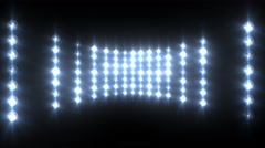 Flashing Blue Wall of Lights Concert Stage Sports Stadium Background - stock footage