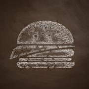 sandwich icon - stock illustration