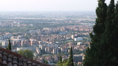 Shot looking over Bologna Italy. Stock Footage