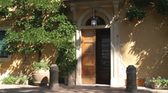 Door of an old country home in Italy. Stock Footage