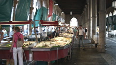 People at a shop in Venice Italy. Stock Footage