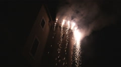 Fireworks at a castle in Rome Italy. Stock Footage