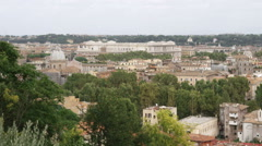 Cityscape of Rome Italy. Stock Footage