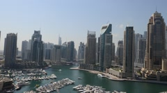 HD Timelapse of a Dubai Marina bay during a day Stock Footage