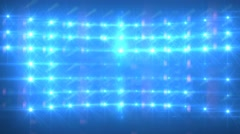 Blue Lights Flashing Concert Stage Sports Stadium Background - stock footage