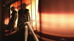Fashion display in Rome Italy. Stock Footage