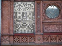 Facade of Hackescher Markt Railway Station, Berlin, Germany - stock photo