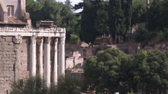 Ruins in Rome Italy. Stock Footage