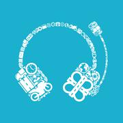 Headphones icon Stock Illustration