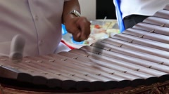 People playing Alto xylophone, Thai tradition music instrument. Stock Footage