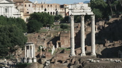 Stock Video Footage of Shot of ancient ruins of old Rome.