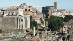 Stock Video Footage of Ancient Roman ruins in Rome Italy.