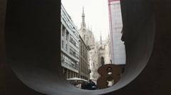 City of Milan Italy through a window. Stock Footage