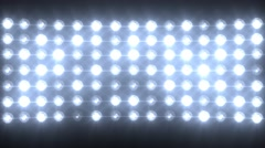 Blue Wall of Lights Stage Sports Stadium Background - stock footage