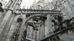 Beautiful old cathedral in Milan Italy. Stock Footage