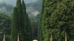 Garden entrance near Lake Como in Italy. Stock Footage