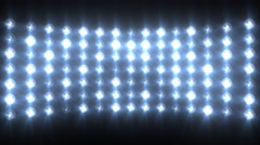 Blue Flashing Lights Stage Sports Stadium Background - stock footage