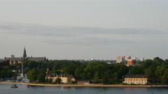Skeppsholmen and kastellholmen in Stockholm Sweden Stock Footage