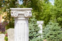 Greek Ionic Columns - stock photo