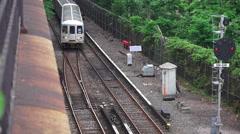 New York City Subway Train Staten Island Stock Footage