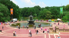Bethesda Terrace in Central Park NYC. Stock Footage