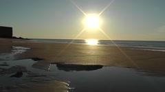 Sunset beach broome australia Stock Footage