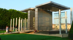 Shot of the Peace Monument in Paris France. Stock Footage