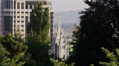 Temple of the Church of Jesus Christ of Latter-Day Saints in Salt Lake City. Stock Footage