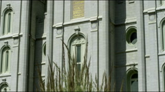 Temple of the Church of Jesus Christ of Latter-Day Saints in SLC Utah. Stock Footage
