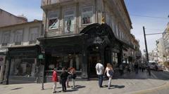 Reis Filhos in Batalha Square, Porto Stock Footage