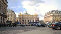 Time-lapse of Place de l'Opera in Paris France. Stock Footage